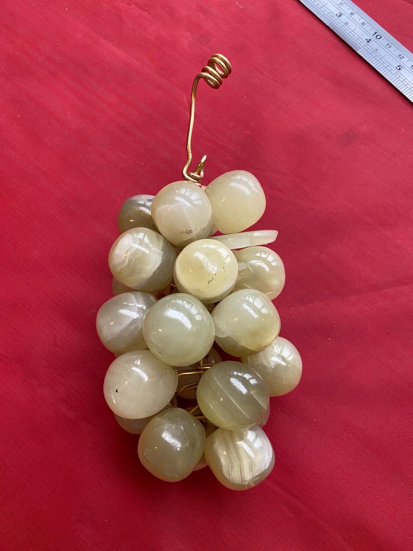 Decorative Onyx Bunch Of Grapes - Vintage Circa 1960's