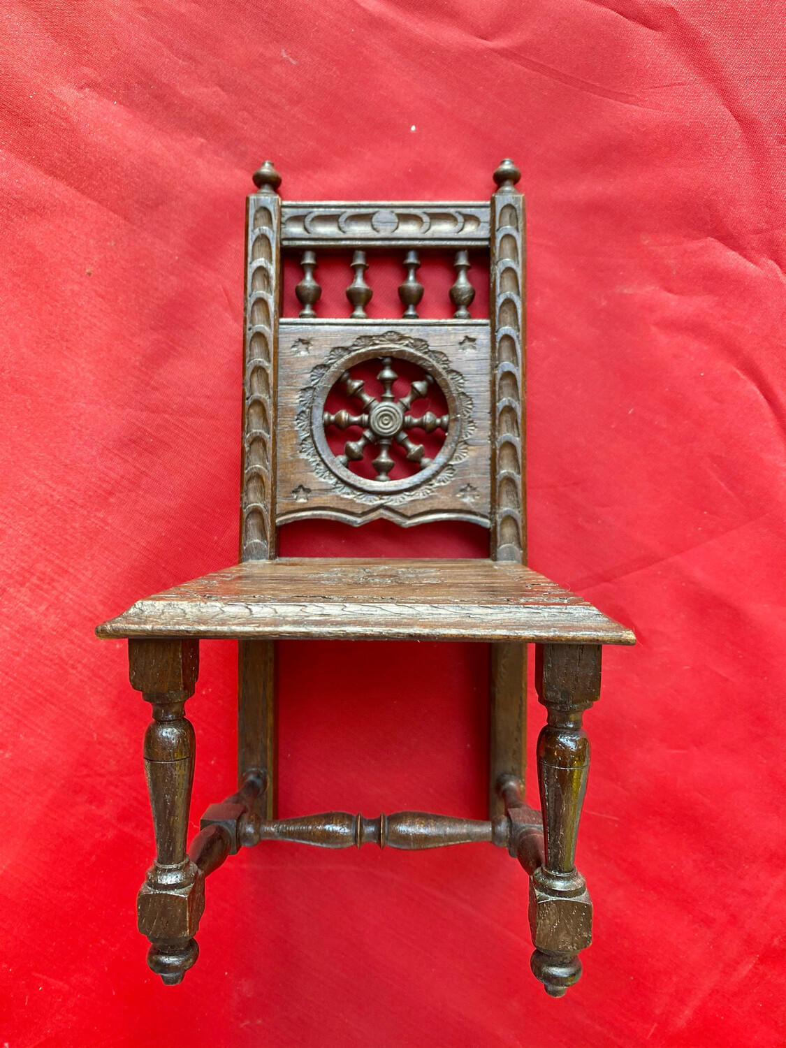 French Apprentice or Sample Piece - Chair - French Country Flat back Style