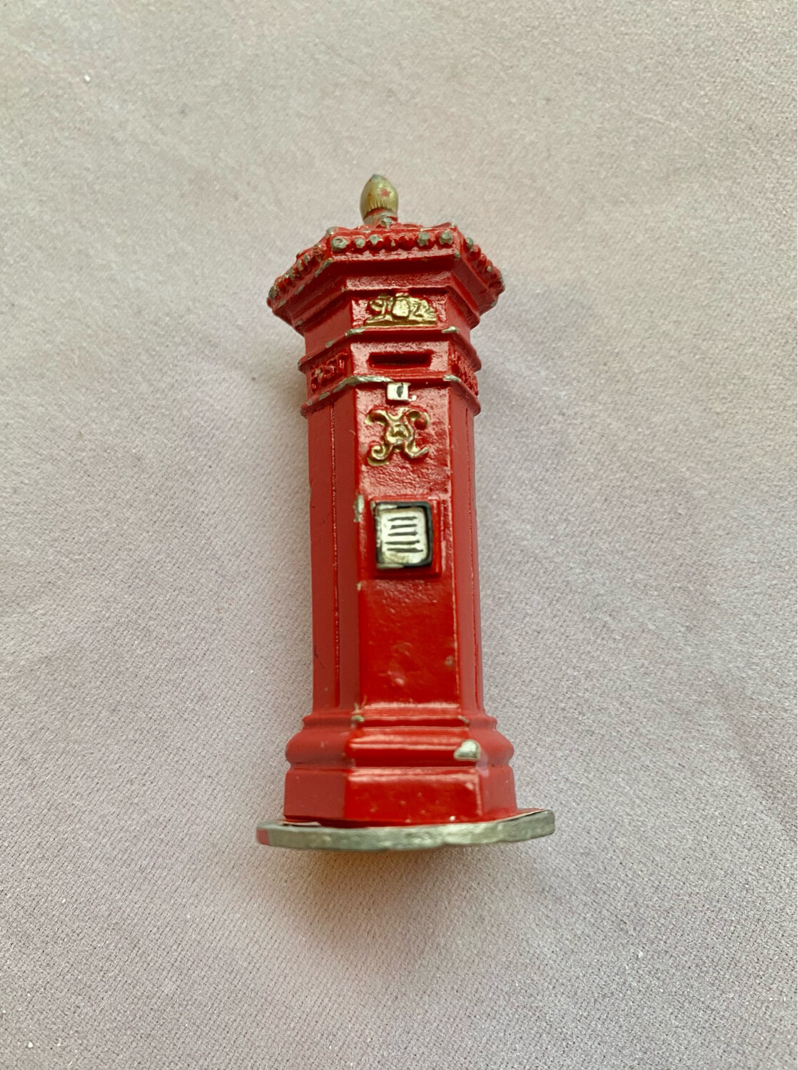 Lead Victorian Style Postbox Probably A Model Railway Accessory