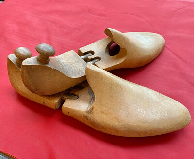 Late 19th C. French Shoe Stretchers In Lovely Condition - Practical Or Decorative