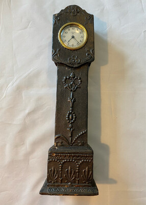 Mantle clock in Grandfather style - possibly late Victorian