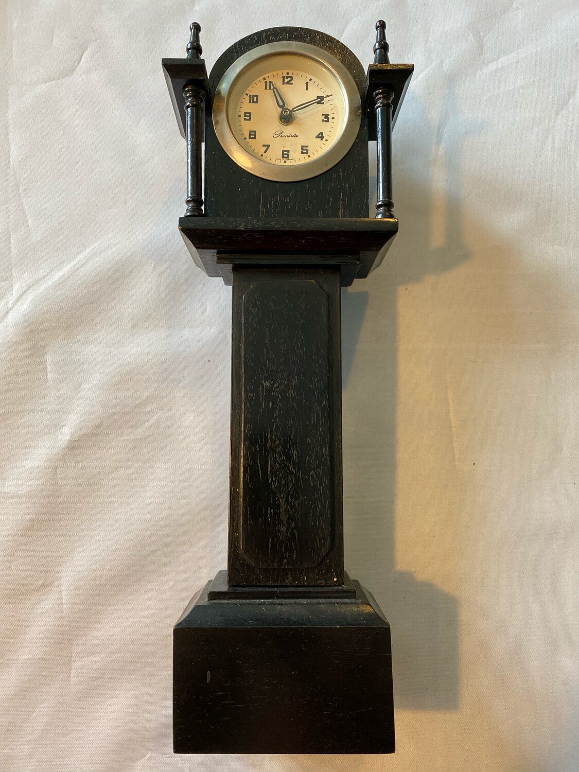 Mantle clock in Grandfather style - German, possibly 1930's