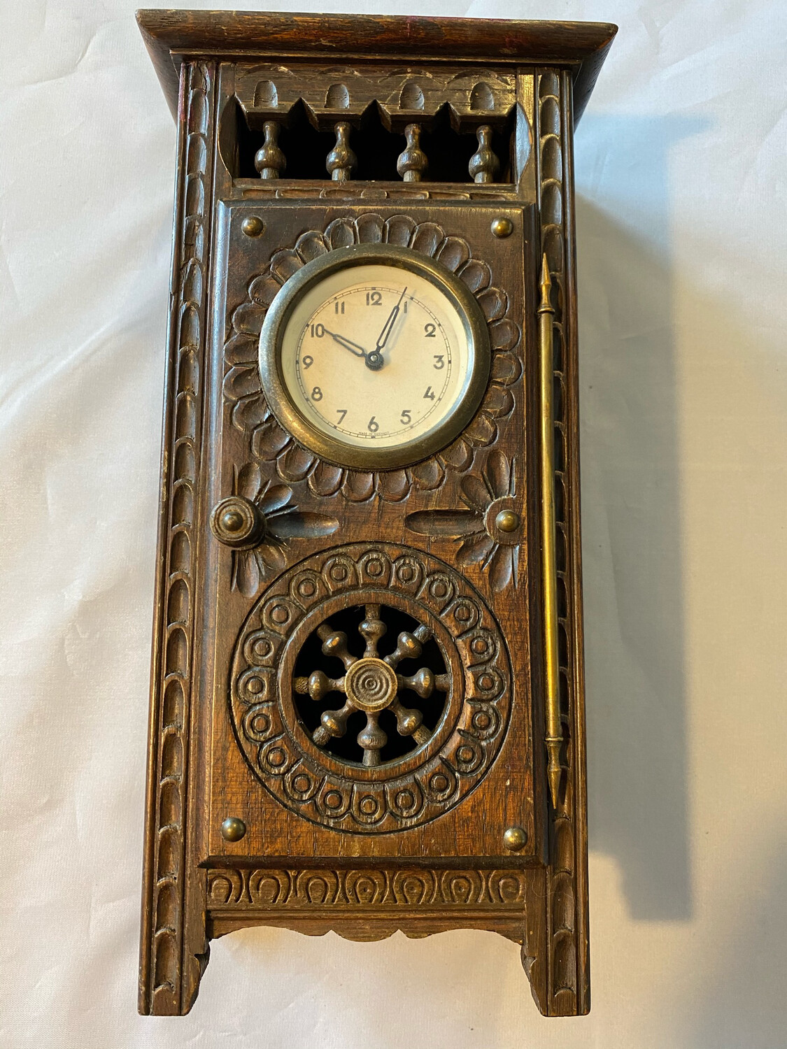 Mantle clock in very unusual style - German, possibly 1930's