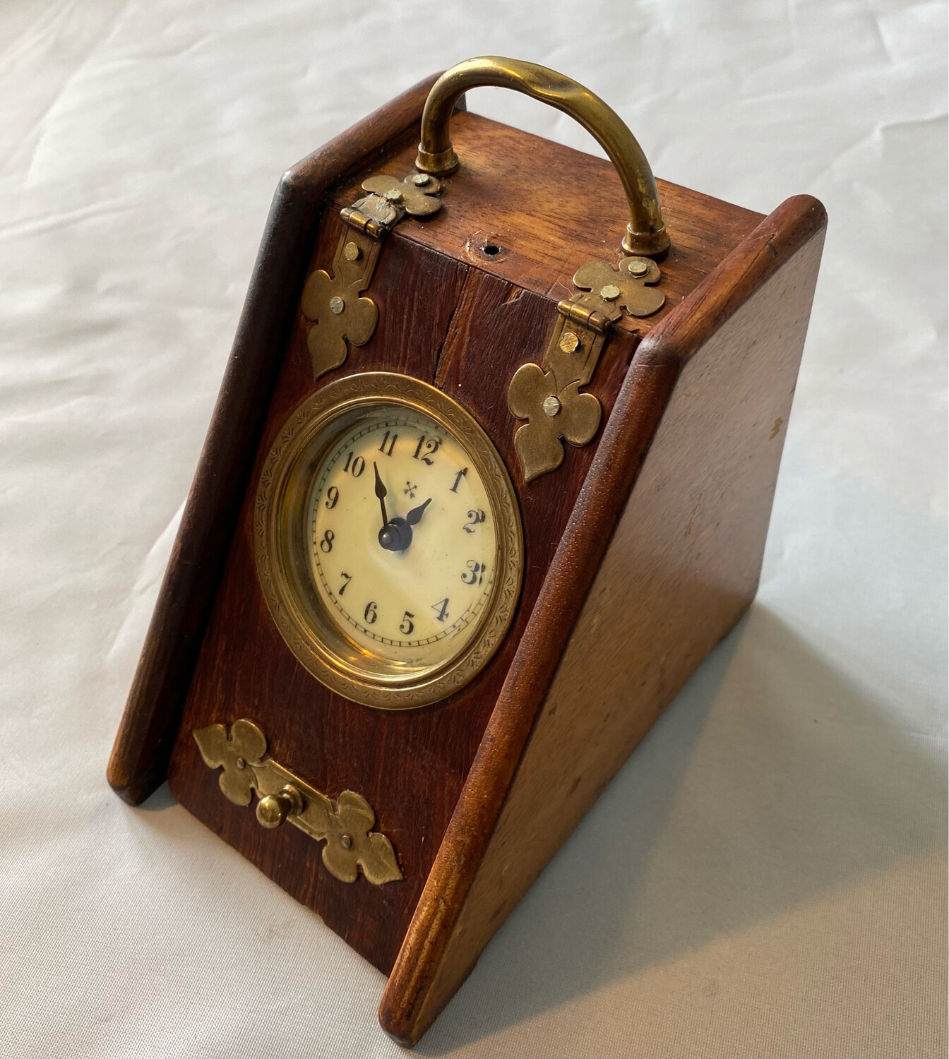 Unusual HAC Hamburg American Clock in small wooden case - probably early 1920's or 30's
