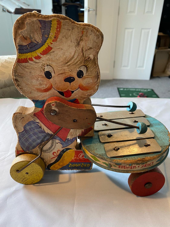 Very Rare Ziggy Zilo Fisher Price Toy - well worn