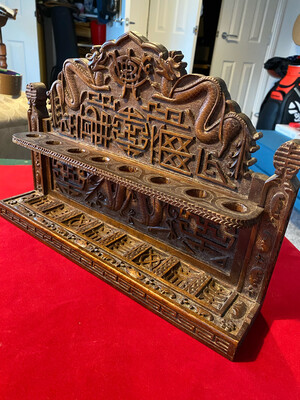 Antique Chinese Pipe Stand - was hand made to order with Initials/Crest