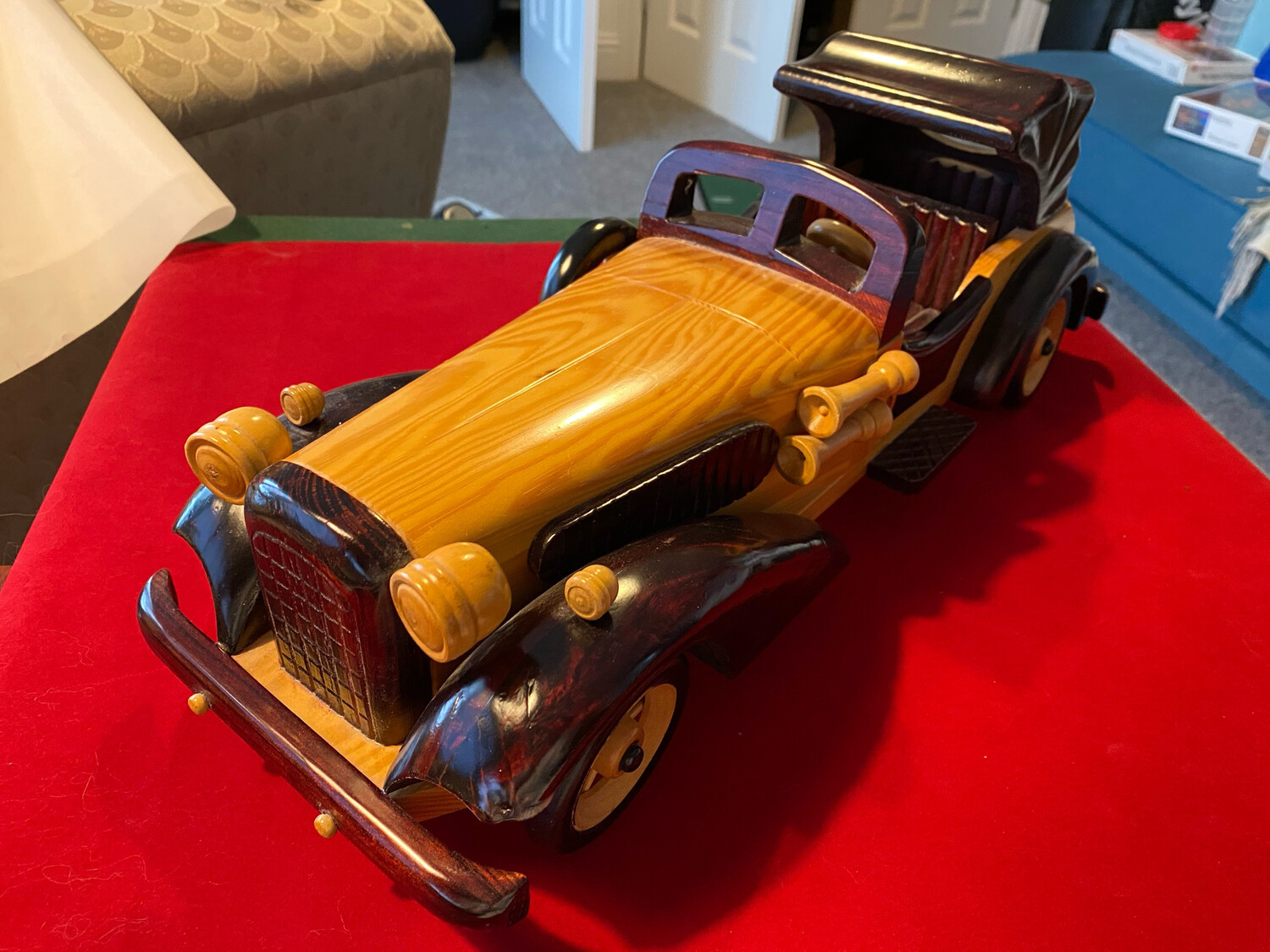 1920's style vintage wooden car (modern) - stunning and very decorative