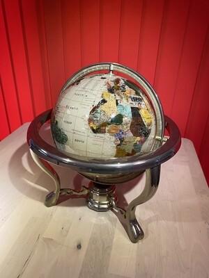 Stunning Gemstone Desk Globe with Compass