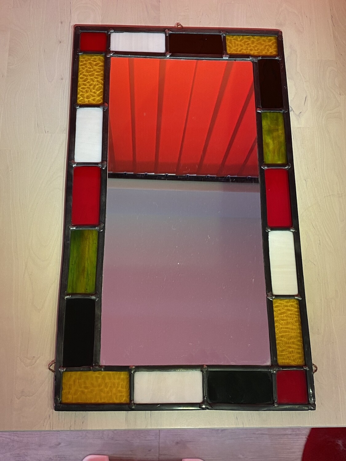 Fabulous Stained Glass and Leaded Mirror