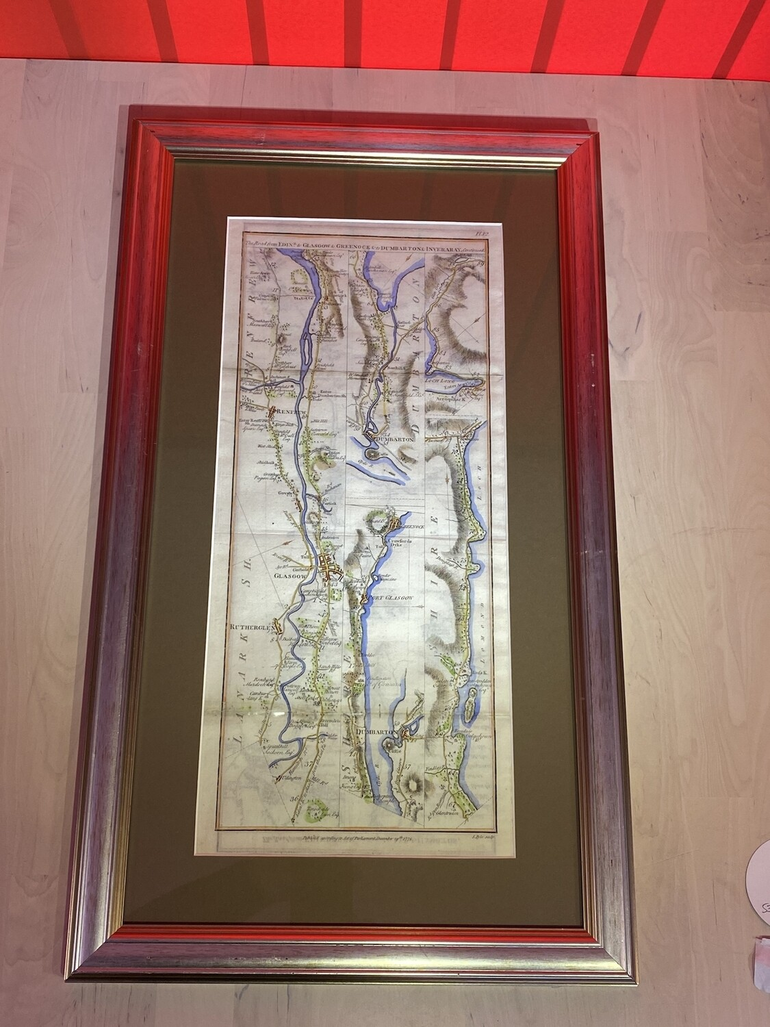 Framed Maps of Local Areas - As of 1700's