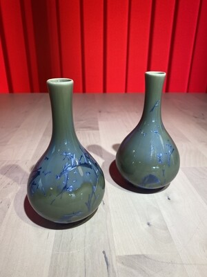 Pair of Matched Oriental Vases