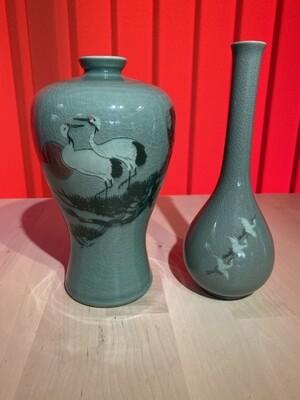 Pair of Matching Oriental Vases