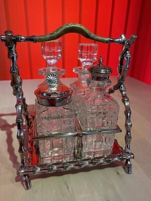 Victorian Condiments 'tantalus' Carrier - James Deakin & Sons