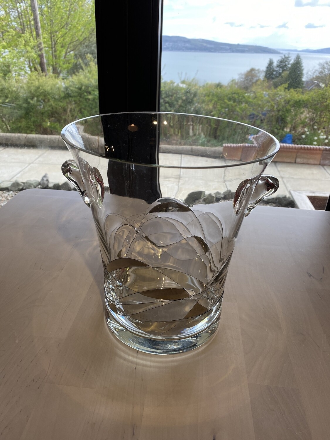 Beautiful Heavy Glass Vase (or even Champagne Bucket !!) Possibly Waterford