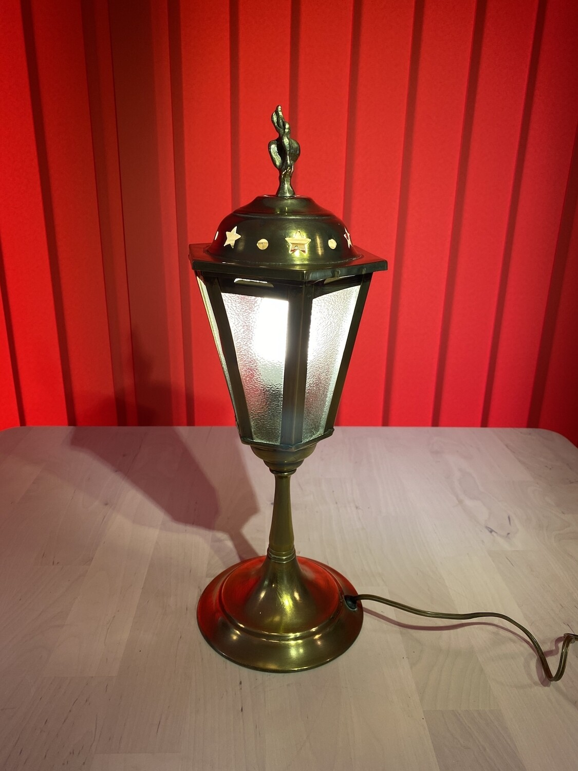 Brass Table Lamp in Style of a Victorian Streetlamp