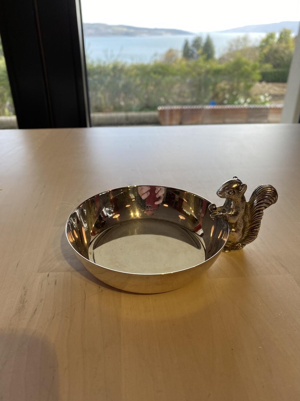 EPNS Squirrel Serving Bowl - Possibly Candle Holder