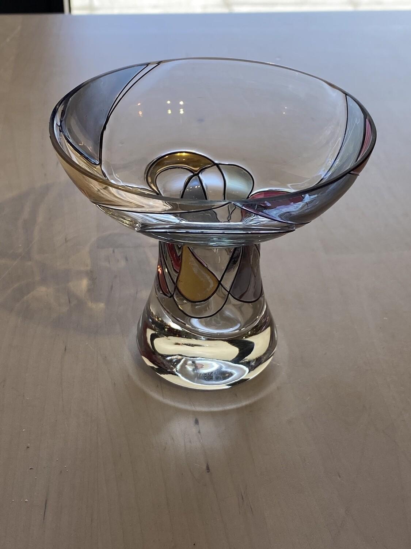 Mackintosh Influenced Glass Bon Bon Bowl