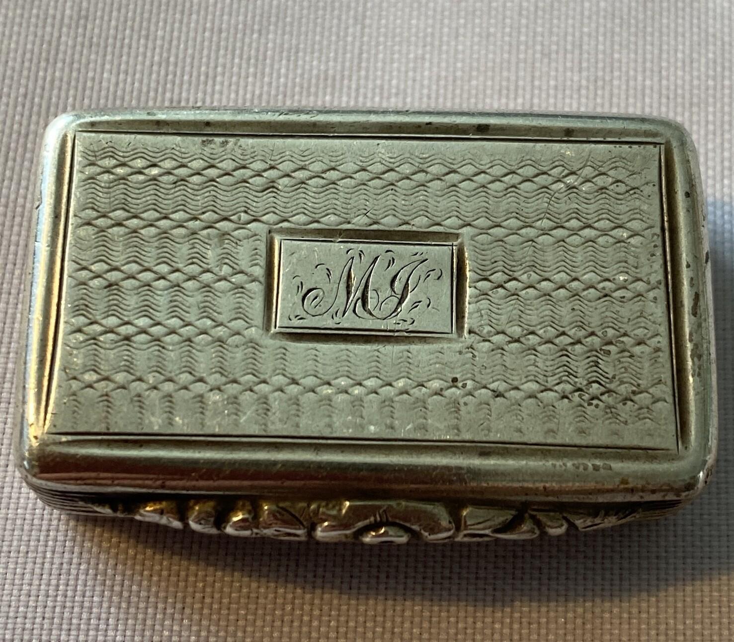 Georgian Silver Pill Box - 1831 Hallmark