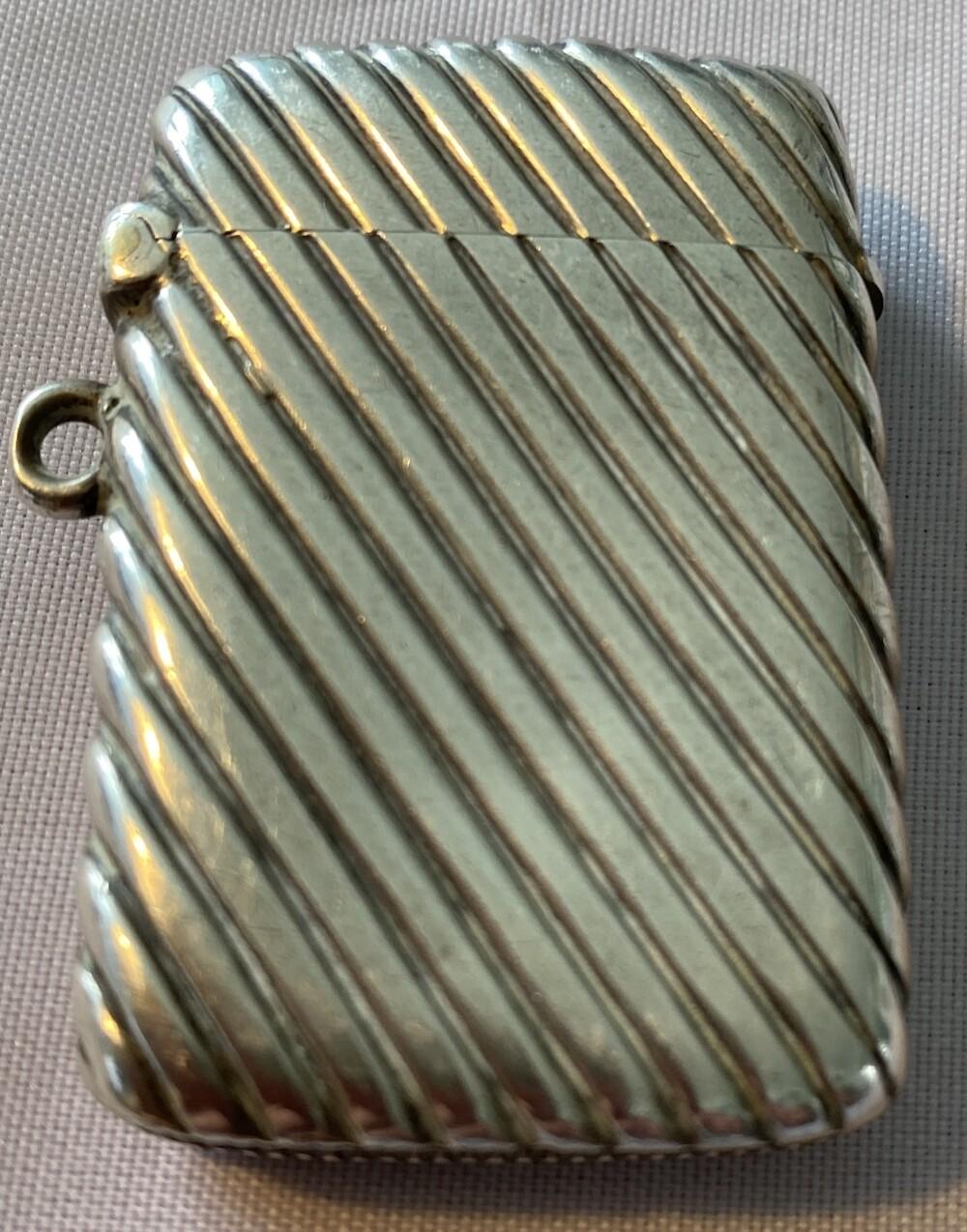 Victorian (1897) Silver Vesta Case - immaculate condition