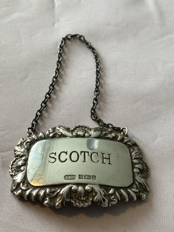 Silver Whisky Decanter Collar (1993) - Scotch