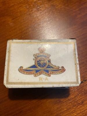 Very Rare Matchbox Cover WW2 - Royal Artillery