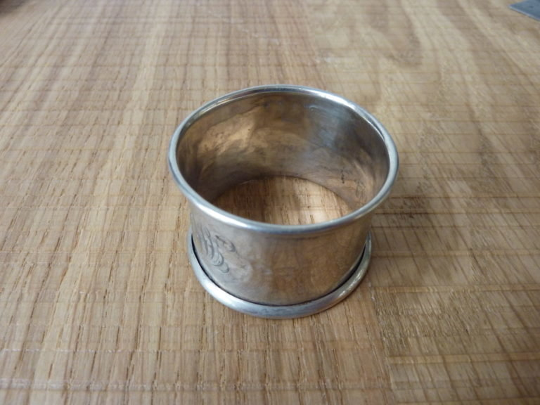 Solid Silver Napkin Ring (well worn) - 1820