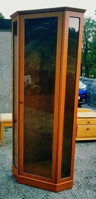 Tall Display Cabinet - Cherry Coloured