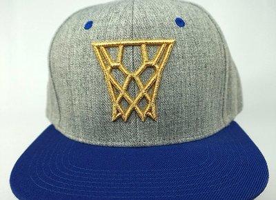 Grey & Blue Gold Net Snapback