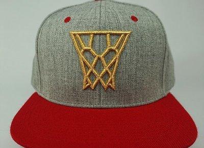 Red & Grey Gold Net Snapback
