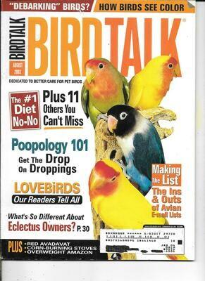 BirdTalk Magazine Agust 2003