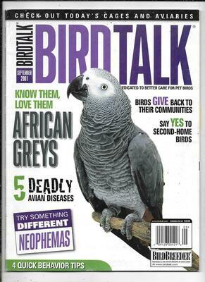 BirdTalk Magazine September 2001