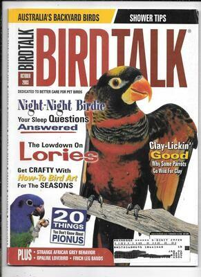 BirdTalk Magazine October 2003