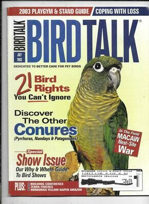 BirdTalk Magazine July 2003