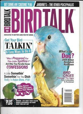 BirdTalk Magazine January 2004