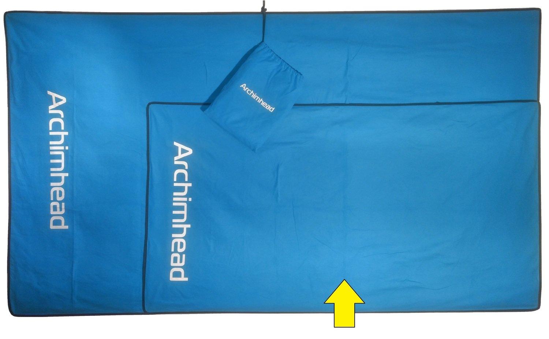 Large Archimhead Outdoor towel/ Grande serviette de plein air Archimhead