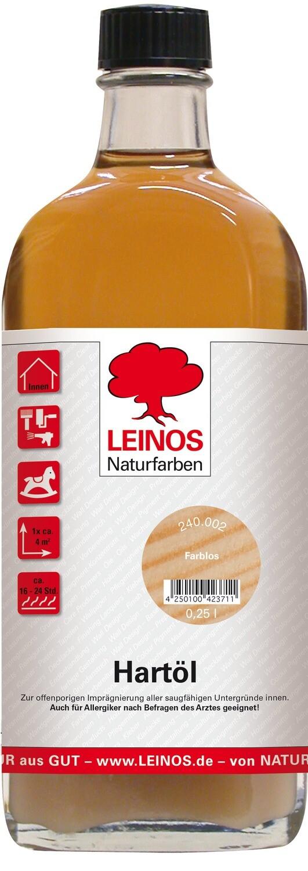 Leinos Hartöl 240 für innen, farblos 0,25 l