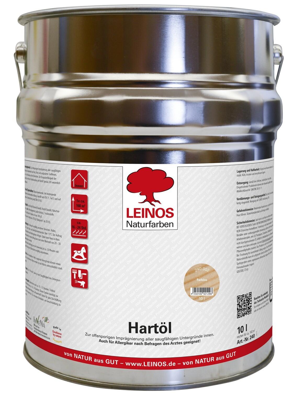 Leinos Hartöl 240 für innen, farblos 10,0 l