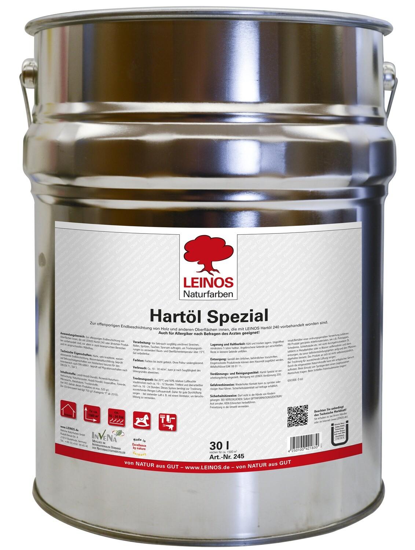 Leinos Hartöl spezial 245  für innen, farblos 30,0 l