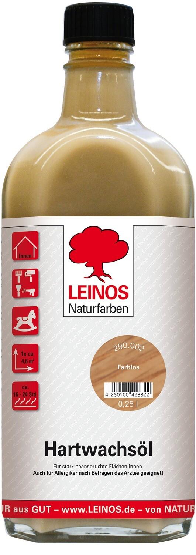 Leinos Hartwachsöl 290 für innen, farblos 0,25 l