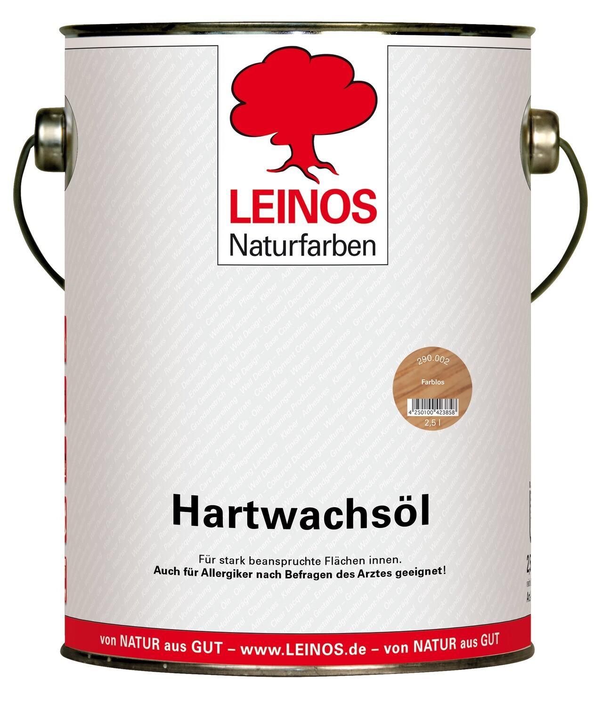 Leinos Hartwachsöl 290 für innen, farblos 2,5 l