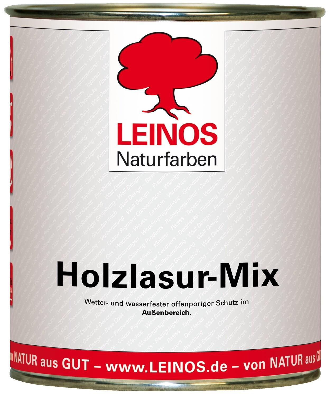 Leinos Holzlasur-Mix 262 für außen, 0,75 l   Rötliche Farbtöne