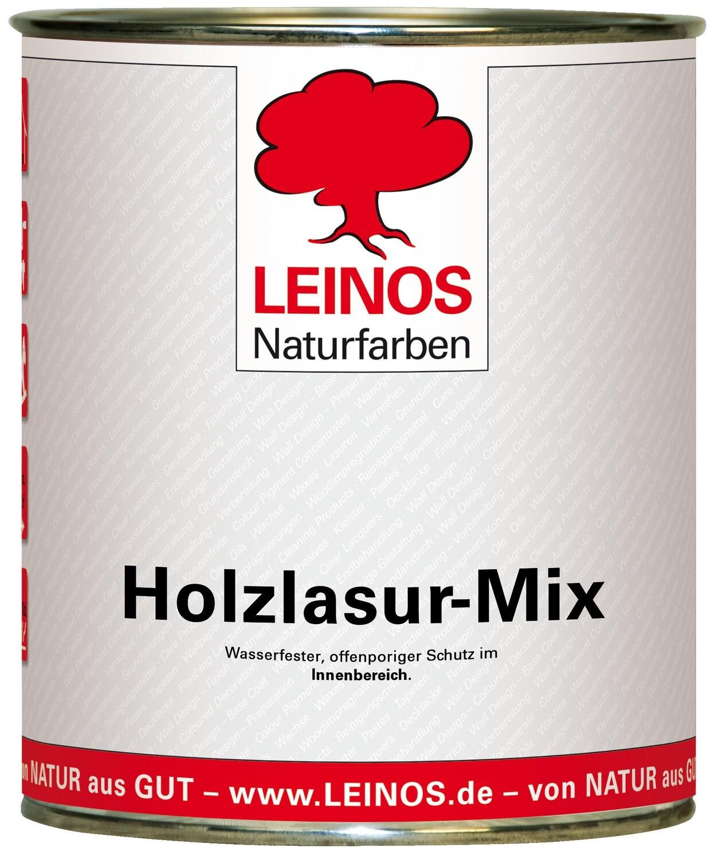 Leinos Holzlasur-Mix 263 für innen, 0,75 l   Blaue Farbtöne