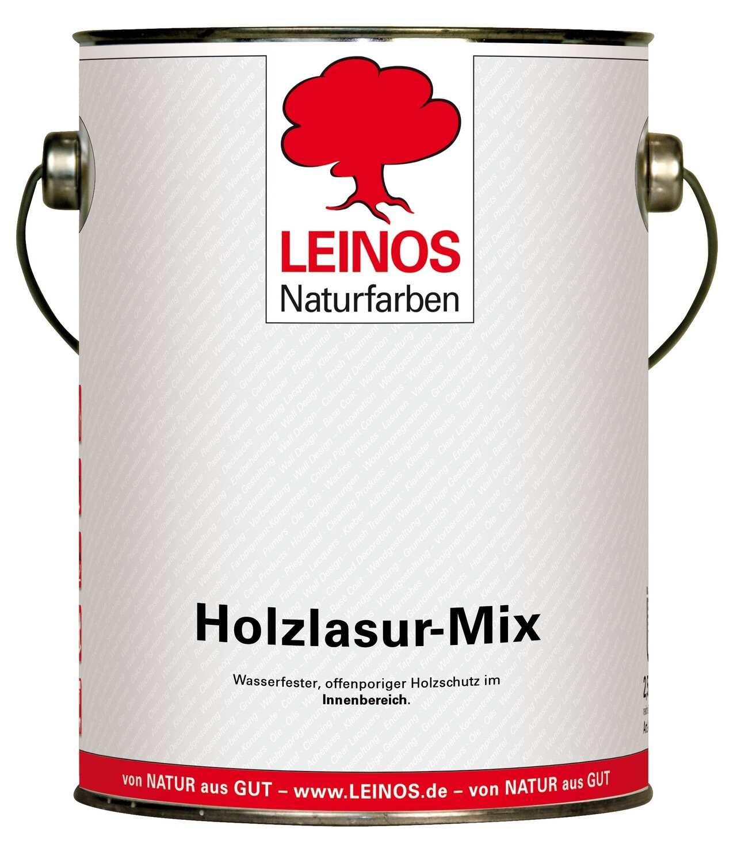 Leinos Holzlasur-Mix 263 für innen, 2,5 l   Gelb/Orange Farbtöne