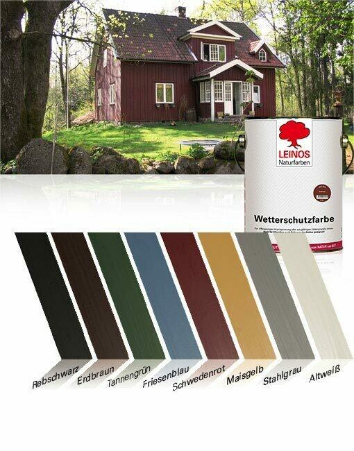Leinos Wetterschutzfarbe auf Ölbasis 850 für außen, 0,75 l   in 8 Farben, andere Farben auf Anfrage mischbar