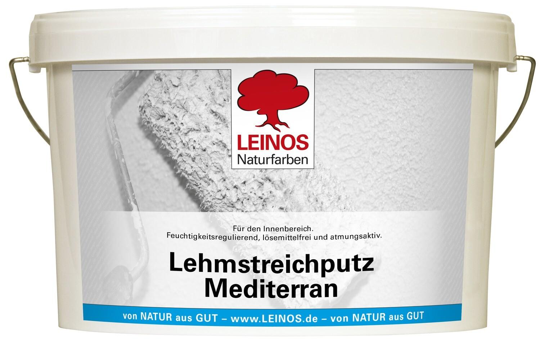 Leinos Lehmstreichputz Mediterran für innen, naturweiß, matt, grobkörnig 10,0 l