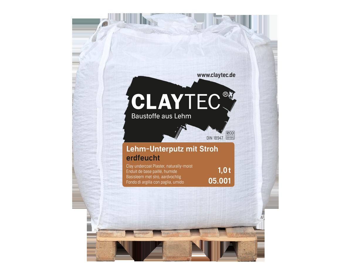 Lehm-Unterputz mit Stroh, erdfeucht 1000 kg