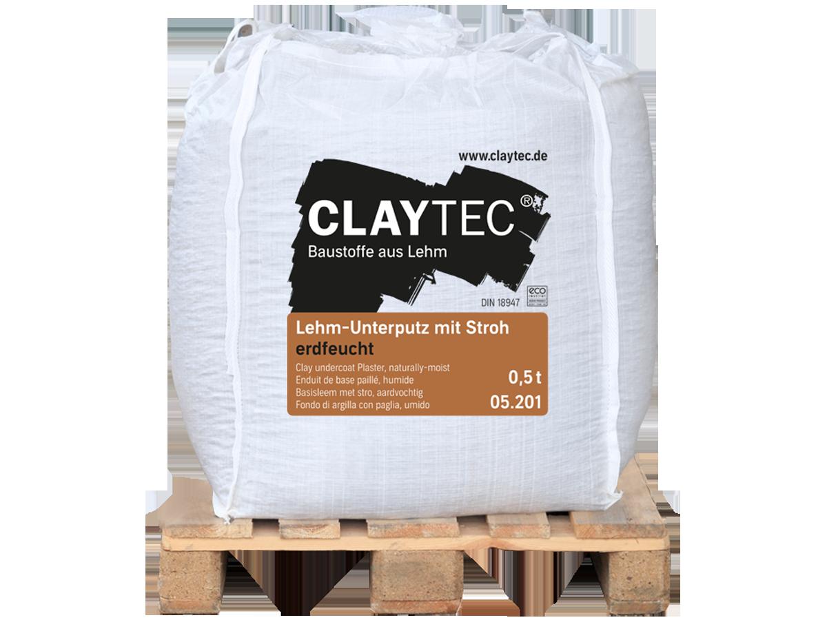 Lehm-Unterputz mit Stroh, erdfeucht 500 kg