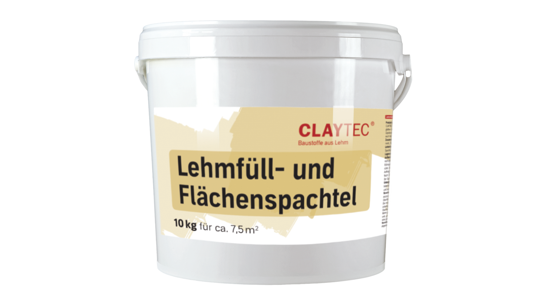Lehm Füll- und Flächenspachtel natur-HELL 10 kg