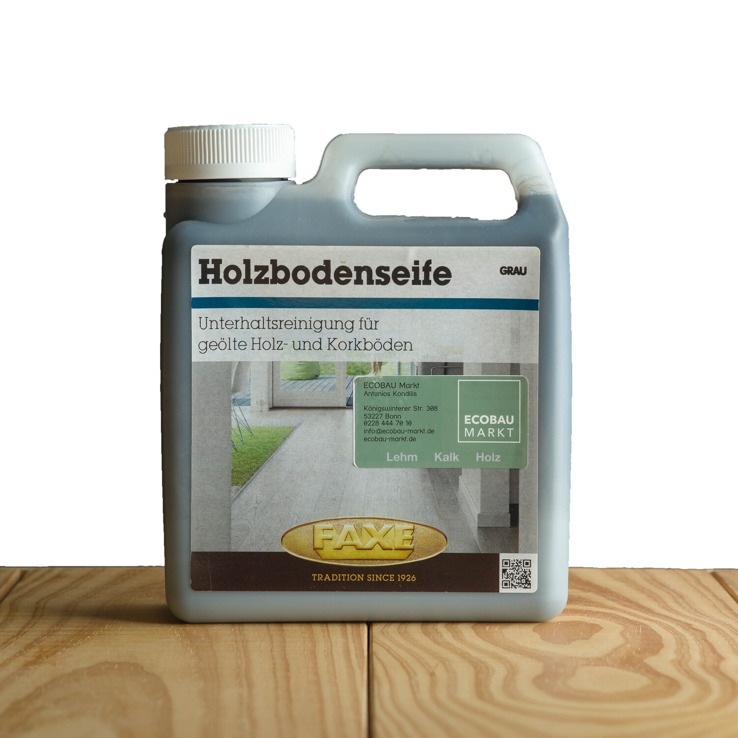 Faxe Holzbodenseife grau 1,0 l