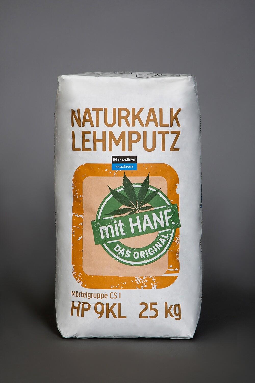 Hessler HP 9KL Naturkalk-Lehmputz mit Hanf 25 kg